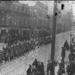 World War I Soldiers March Down Rosser Avenue